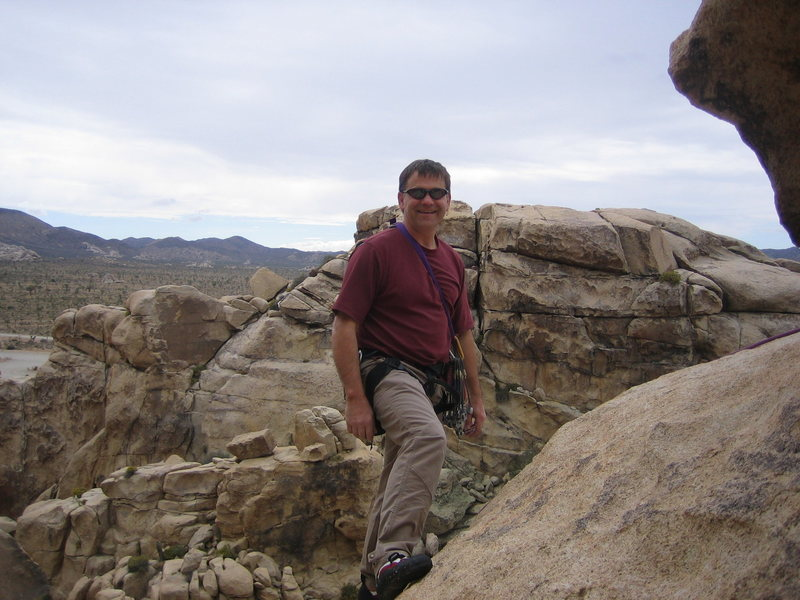 Rock Climbing Photo: Marty Snyder at Joshua Tree