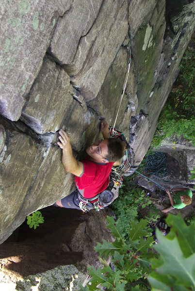 Rock Climbing Photo: Devils Lake. Henning Boldt on Whipping Boy. August...