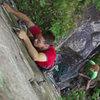Whipping Boy. Henning Boldt climbing.