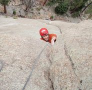 Rock Climbing Photo: Nothing but sheer determination as Colin pulls the...