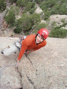 Rock Climbing Photo: It's all gold after pulling the roof.  Close your ...