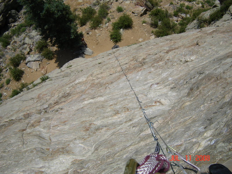 Rock Climbing Photo: looking down mr. mistopheles