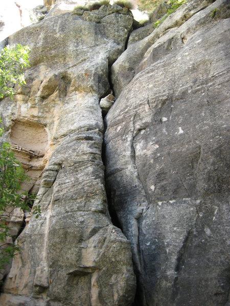 Rock Climbing Photo: Offwidth Crack.