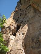 Rock Climbing Photo: P1 of Apple Cider follows the various cracks up th...