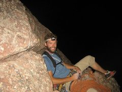 Rock Climbing Photo: Joe on what we deemed a suitable belay ledge for o...