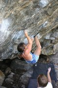 Rock Climbing Photo: Ashley Lloyd working the Kine traverse, with (I th...