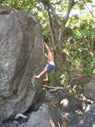 Rock Climbing Photo: Beach bouldering, I wish I had my shoes.