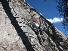 Rock Climbing Photo: Tony Horness on the FA of Lay Blackie