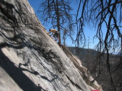 Rock Climbing Photo: Tony Lusk on the FA of Battle of My Bulge