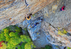 Rock Climbing Photo: Beautiful fall conditions on Goodro's and Six Appe...