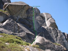 Rock Climbing Photo: Black September as seen from the approach