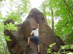 Rock Climbing Photo: Anyone have any idea of what boulder this is?  Sou...