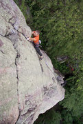 Rock Climbing Photo: Liebacks on Son of a Great Chimney Direct. August ...
