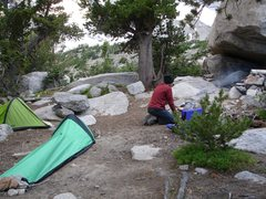 Rock Climbing Photo: Campsite in The Winds.   This was my first real ba...