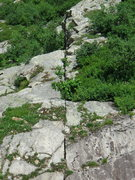 Rock Climbing Photo: The brain belay ledge and below that left of the c...