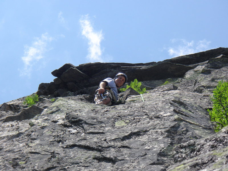 Rock Climbing Photo: top of pitch 3