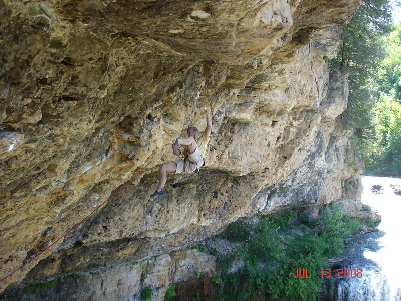 Rock Climbing Photo: In the redpoint crux of  Cypher 2