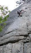 Rock Climbing Photo: Looking somewhat less-than-graceful on Dogleg Crac...
