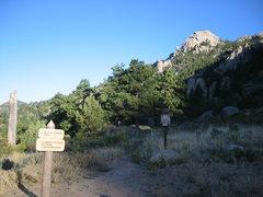 Rock Climbing Photo: Trail up to Batman Rock and Pinnacle.