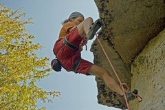 Rock Climbing Photo: Moving passed the crux of The Gathering (5.11b) on...