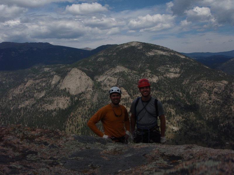Rock Climbing Photo: Me and Juston at the Top of Deer Mtn. Climbed Nun'...