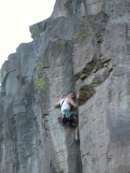Rock Climbing Photo: George Perkins - stepping up to the scare.