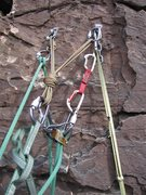 Rock Climbing Photo: Reverso rigged for lowering of the second