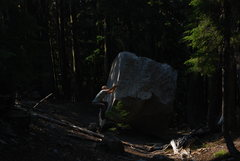 Rock Climbing Photo: One of the obsidian slabs.