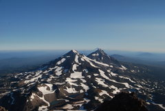 Rock Climbing Photo: View from the top of South Sister.