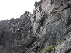 Rock Climbing Photo: Start of the roped climbing for us. (SE side of fa...
