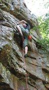 Rock Climbing Photo: Count Chalkula 5.10a, North Forty, HHC, Arkansas