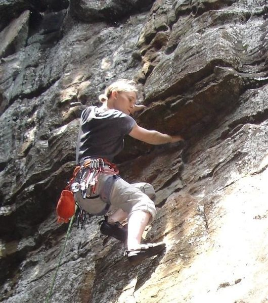 Rock Climbing Photo: Around the Fur, There is a hidden undercling that ...