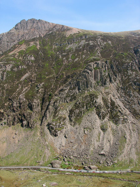 Llanberis Pass with Dinas Cromlech in the middle