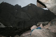 Rock Climbing Photo: just above and to the right is this bivy cave
