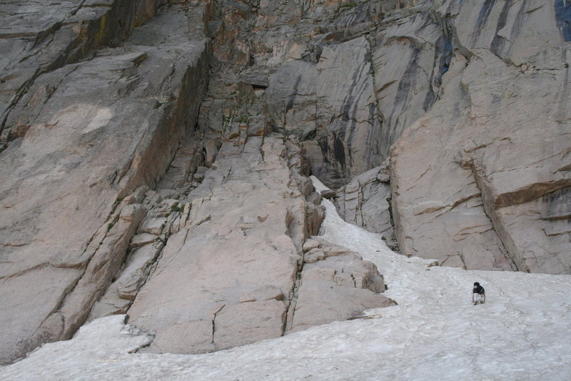 north chimney.  what we learned is stay on the slab on climbers left.