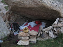 Rock Climbing Photo: There are many quality bivy sites south of the pon...