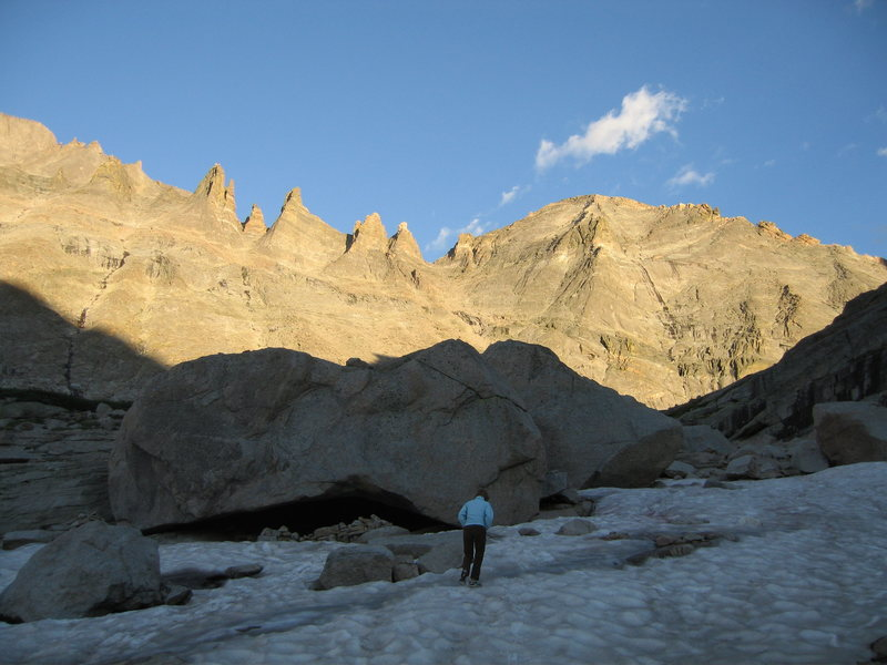 Rock Climbing Photo: Welcome to the snow motel! This is spacious and to...