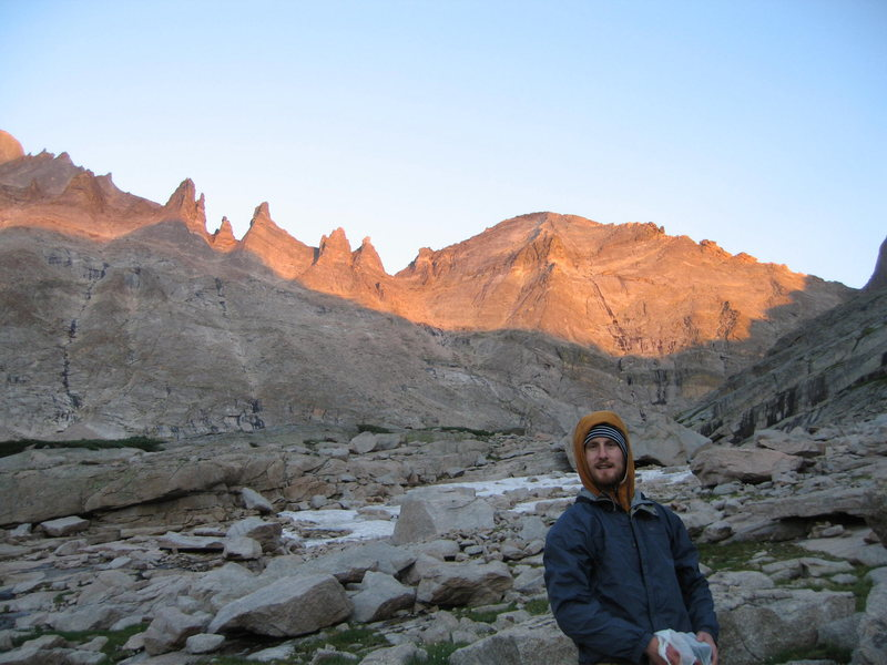 Bivy at the Spearhead if possible, and the sunset on the Keyboard of the Winds and Pagoda is spectacular. The North Buttress is prominent here as well as the Northeast Face. There is a lot of FA potential here from variations to the North Buttress to whole new lines on the Northwest Face.