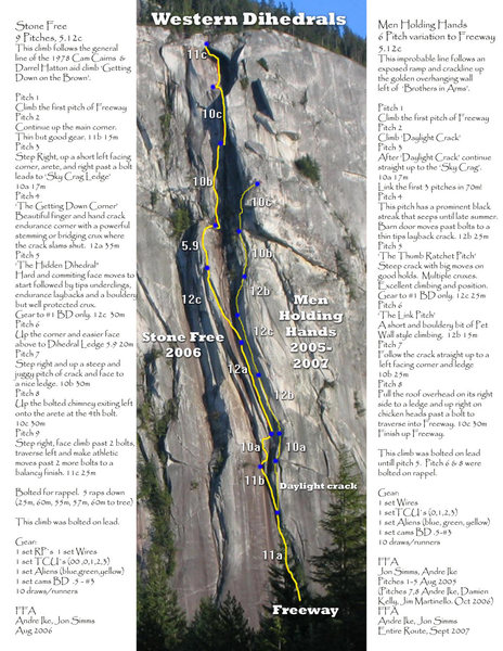 Rock Climbing Photo: Route topo and description