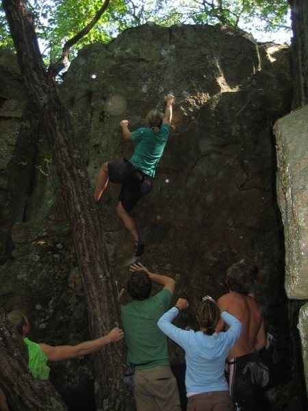 Rock Climbing Photo: Steve Z on route