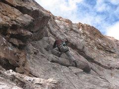 Rock Climbing Photo: Tony Lusk entering the crux on his FA!