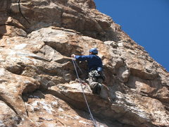 Rock Climbing Photo: The start of the pumpy climbing above the undercli...