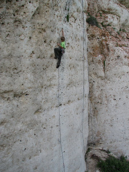 Urs having fun on the classic Zorro 5.11d.