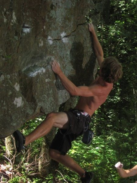 Rock Climbing Photo: Ross on the FA
