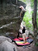 Rock Climbing Photo: topping out Pop Or Drop, V4