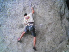 Rock Climbing Photo: The opening moves of Brain Child. 5.12 off the gro...