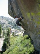 Rock Climbing Photo: Best sport route for the grade at Donner.