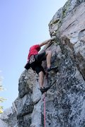 Rock Climbing Photo: Moving through the steeper first section of Slap a...