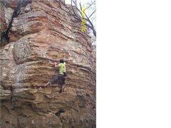 Rock Climbing Photo: 2nd lead ever on my dog has fleas