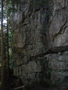 Rock Climbing Photo: The left end of Amazonia.